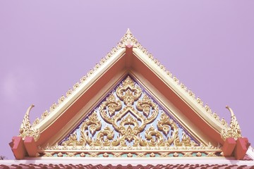 Wall Mural - Buddhist temple. Retro filtered colors tone.
