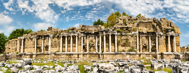 Wall Mural - Ruins of the ancient agora of Side in Turkey
