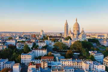 Aerial view of Montmartre in Paris