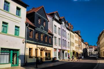 Fotomurales - weißenfels, deutschland - straße in der historischen altstadt