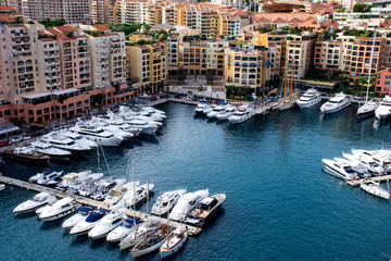 Port of Fontvieille in Monaco
