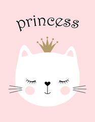 Estores personalizados con tu foto cute princess cat