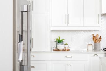Obraz A beautiful modern farmhouse kitchen. - fototapety do salonu