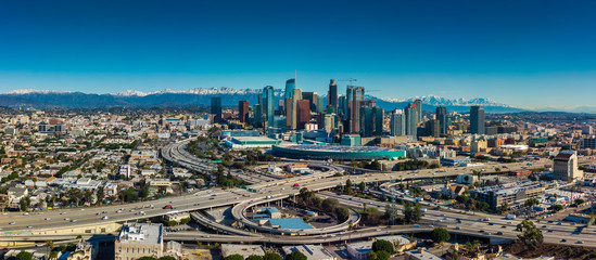 Wall Mural - Los Angeles Panorama Skyline view