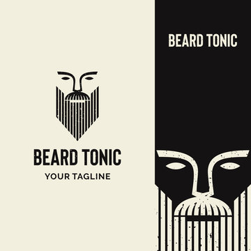 strong rustic beard logo with classic feel