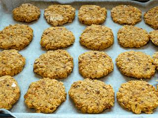 Foto op Aluminium Koekjes home-made oatmeal cookies,
