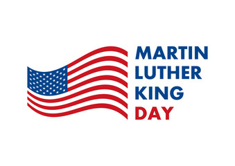 Martin Luther King Jr. Day vector. American hero icon. American flag vector. Martin Luther King Day icon isolated on a white background. American federal holiday. Important day