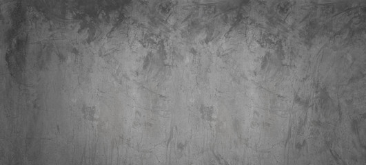 Fototapete - Dark and gray cement wall background