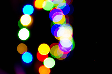 Colorful abstract lights (out of focus) background