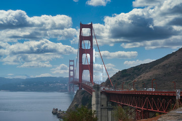 Fototapete - Golden Gate Bridge from Sausalito