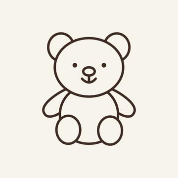 Teddy bear icon template. Preschool education concept. Vector