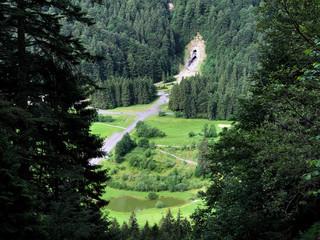 Spoed Foto op Canvas Khaki Golf Course Ybrig or Golfplatz Ybrig (Golf Club Ybrig, Schweiz), Studen - Canton of Schwyz, Switzerland