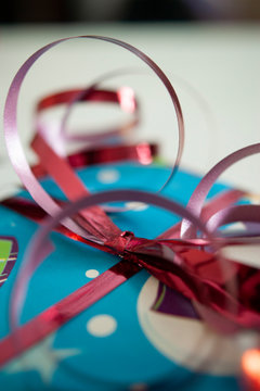 Curled Ribbon on Christmas Present
