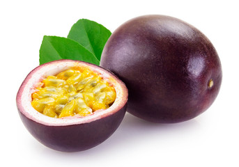 Fototapete - Fresh passion fruit on white background