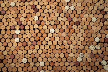 Aluminium Prints Background of used cork wine corks