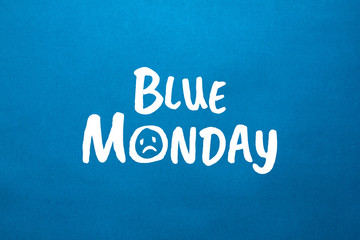 Stock image of a blue monday text