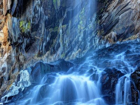 初冬の乙女滝