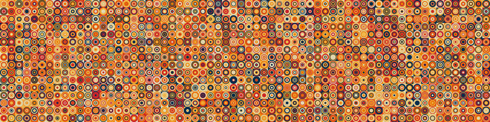 Pattern with random colored Circles Generative Art background illustration Fotomurales