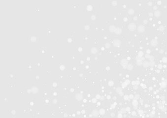 Gray Snowy Happy Card. Abstract Snowfall Banner. Light Pattern. Gray Snow Holiday Pattern. Flake Festive Background. Wall mural