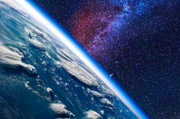 Keuken foto achterwand Heelal Earth in space. Elements of this image furnished by NASA.
