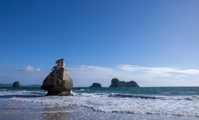 Printed roller blinds Cathedral Cove Hahei. Coromandel New Zealand Cathedral cove. Coast and ocean