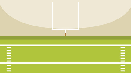 Background scene of american football field with goal