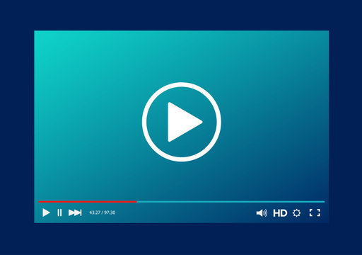 Video player bar template for your design for web site and app