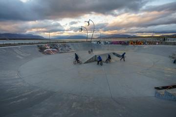 Skate Park in Patagonia during Dusk