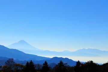 Aluminium Prints Blue sky Nature, Mountain range, Sky