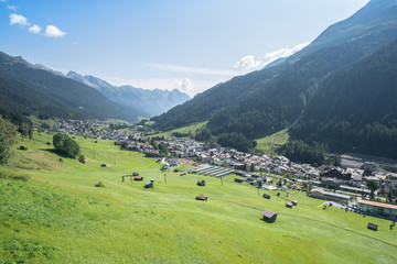 Foto op Canvas Alpen Saint Anton am Arlberg in Austria