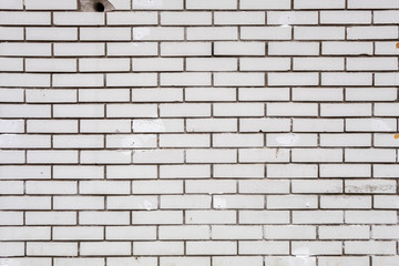 Old Weathered White Bricks Wall Texture