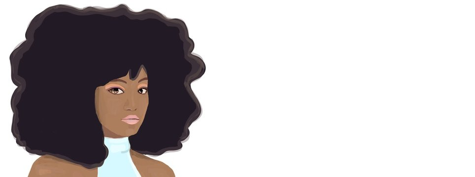 Beautiful black woman portrait