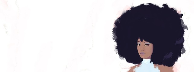 Big afro hair woman