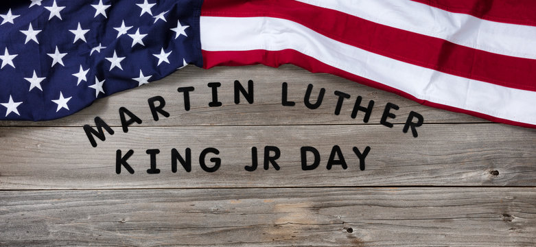 Martin Luther King Day background for freedom concept