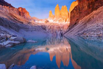 Torres Del Paine National Park, Chile. Fotomurales