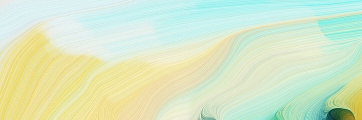 horizontal modern colorful abstract wave background with tea green, khaki and blue chill colors. can be used as texture, background or wallpaper Wall mural