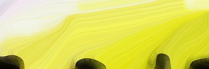 Photo sur Aluminium Jaune de seuffre horizontal artistic colorful abstract wave background with pastel orange, very dark green and beige colors. can be used as texture, background or wallpaper