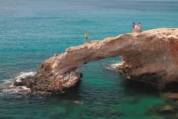 "Rock arch ""Bridge of Lovers."" Agia Napa, Cyprus"