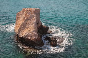 Stone rock in sea. Agia Napa, Cyprus