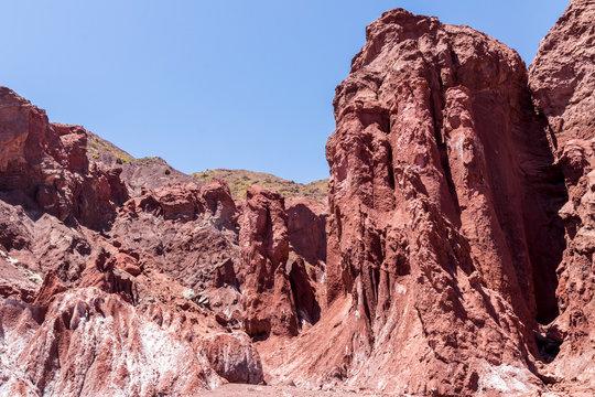 Valle Arcoiris, Rainbow valley, near San Pedro de Atacama in Chile