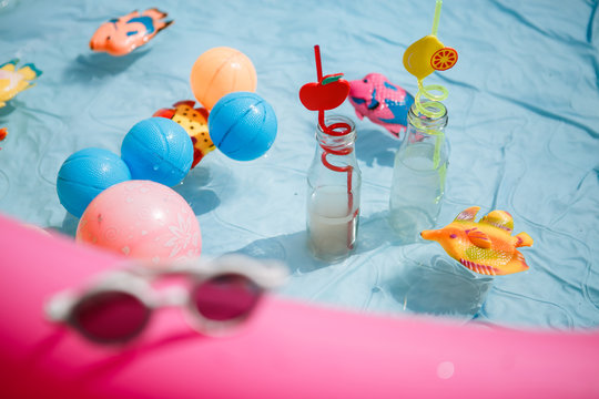 summer children's pool party