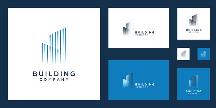 Building construction real estate logo design inspiration
