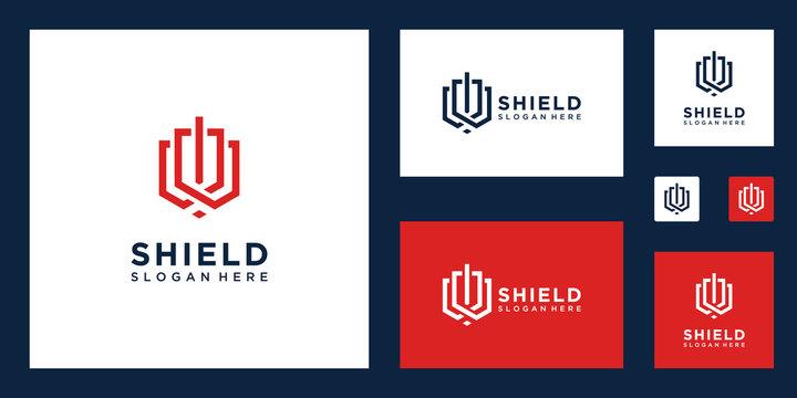 Shield and sword logo design inspiration