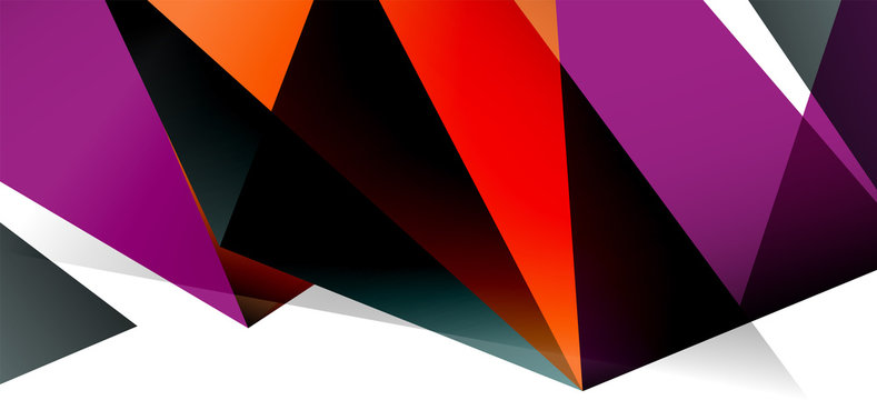 Triangle geometric background in trendy style on light background. Retro vector illustration. Colorful bright. Trendy modern style. Vector business illustration.