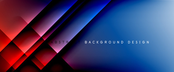 Fototapete - Trendy simple fluid color gradient abstract background with dynamic straight shadow line effect. Vector Illustration For Wallpaper, Banner, Background, Card, Book Illustration, landing page