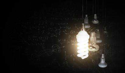 Wall Mural - Concept of bright idea and creativity