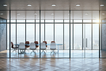 Fotomurales - Modern meeting room interior with city view