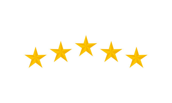 Five stars customer product rating review. vector illustration.