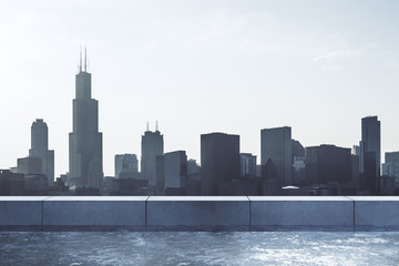 Wall Mural - Beautiful Chicago skyline