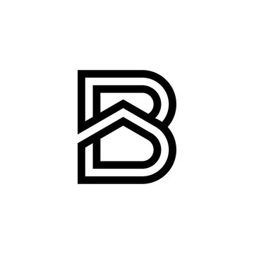 Letter B with roof logo